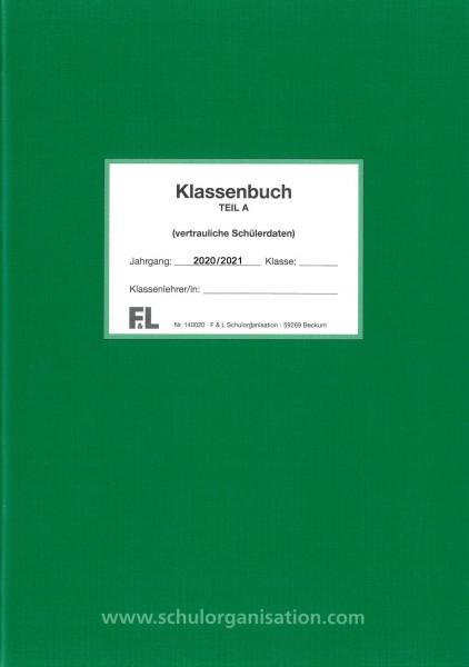 Schülerdaten Hauptschule Klassenbuch Teil A 2020/2021