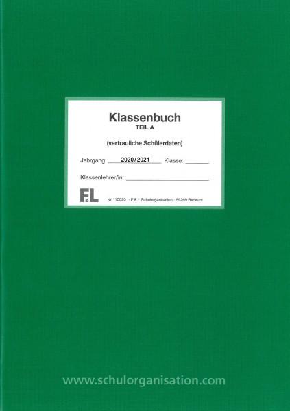Versäumnislisten Klassenbuch Teil A 2020/2021