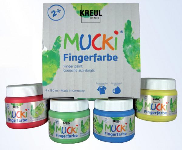 Mucki Fingerfarbe 4er Set