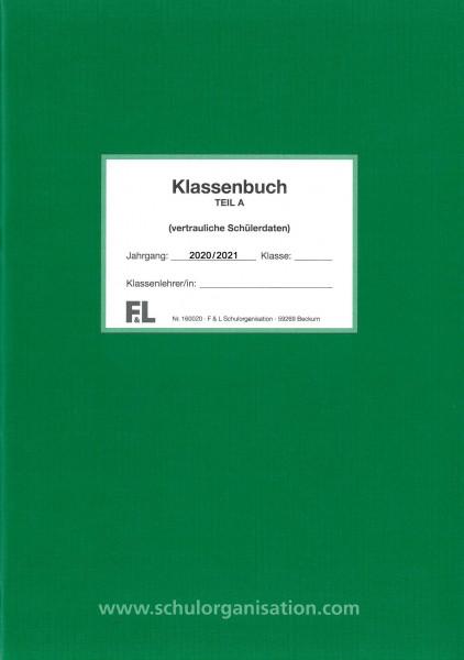 Schülerdaten Gymnasium Klassenbuch Teil A 2020/2021