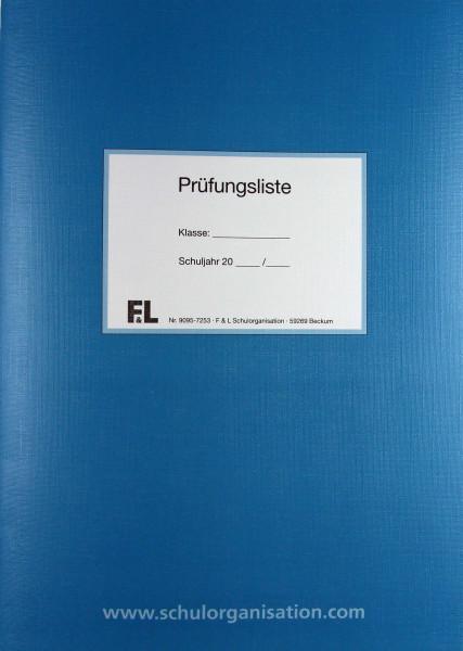 Zulassung- und Prüfungsliste als Heft