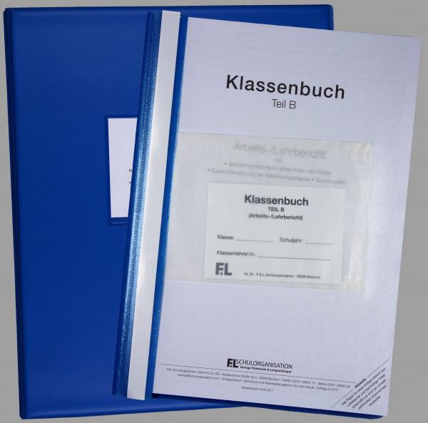 Klassenbuch HS NRW Teil B wochenweise, Inhalt + Ordner