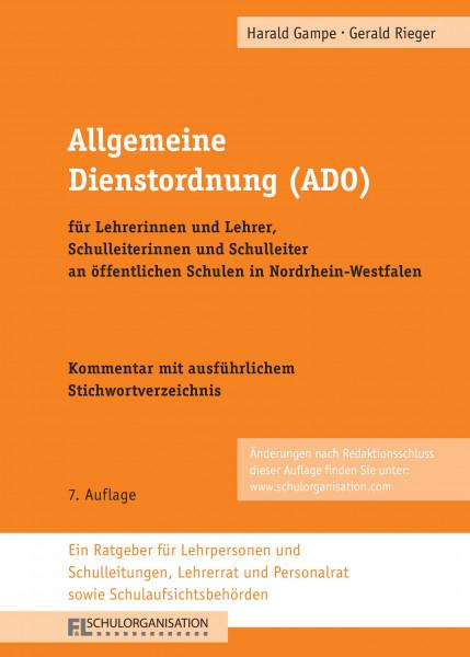 Allgemeine Dienstordnung Schulrecht NRW