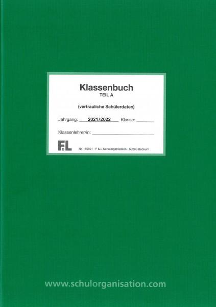 Schülerdaten Gesamtschule Klassenbuch Teil A 2021/2022