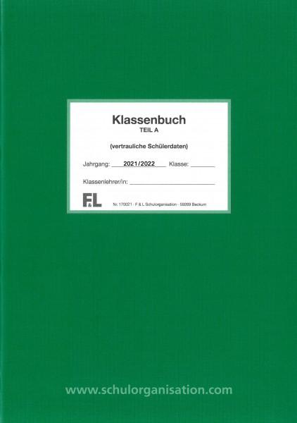 Schülerdaten Grundschule Klassenbuch Teil A 2021/2022