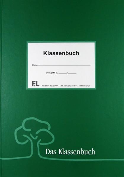 Klassenbuch grün PVC Frei