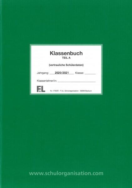 Schülerdaten Grundschule Klassenbuch Teil A 2020/2021