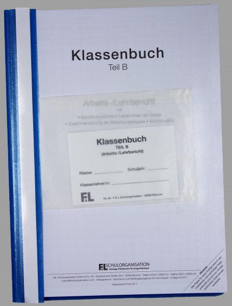 Klassenbuch HS NRW Teil B wochenweise, Inhalt