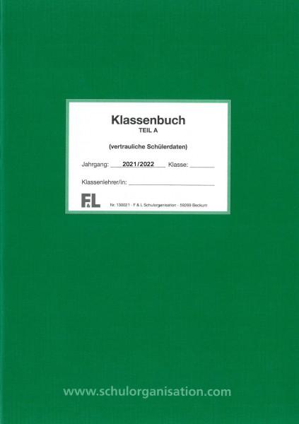 Schülerdaten Sekundarschule Klassenbuch Teil A 2021/2022