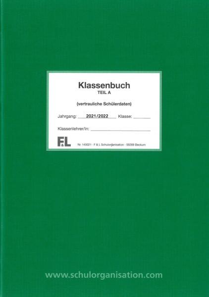Schülerdaten Hauptschule Klassenbuch Teil A 2021/2022