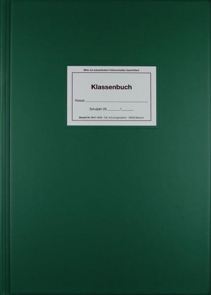 Unterrichtsbericht wochenweise Klassenbuch gebunden, grün